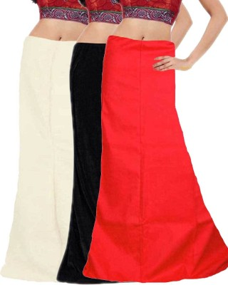 Javuli ja1-in-black-white-red Cotton Petticoat
