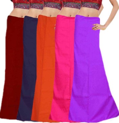 Javuli ja1-in-com5-maroon-navy-orange-pink-purple Cotton Petticoat