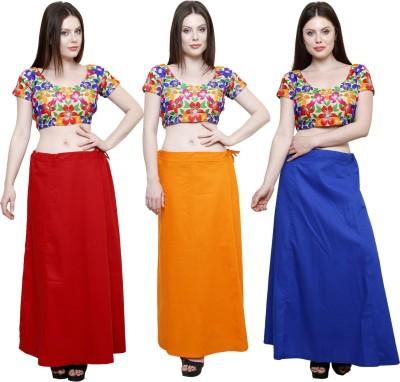 Pistaa Maroon, Orange and Ink Blue Cotton Petticoat