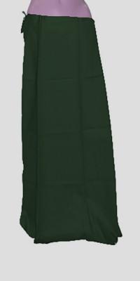 Swaroopa Deluxe BottleGreen-179 Poplin Petticoat