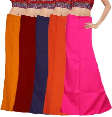 Javuli ja1-in-com5-maroon-navy-orange-pink-mango Cotton Petticoat