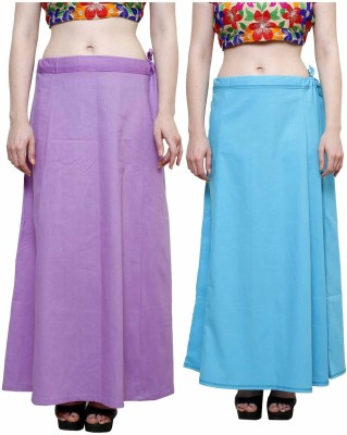 eFashionindia Purple_Skyblue Cotton Petticoat