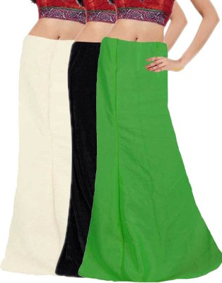 Javuli ja1-in-black-white-green Cotton Petticoat