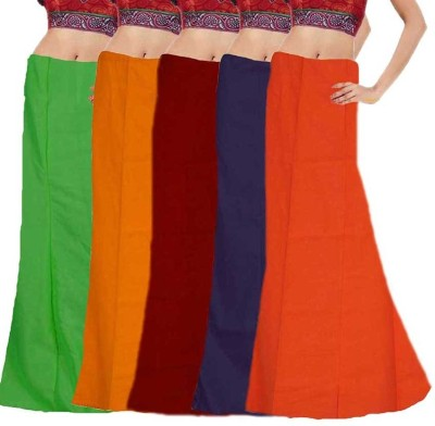 eFashionIndia 7 Parts Inskirt Petticoats set of 5 Cotton Petticoat