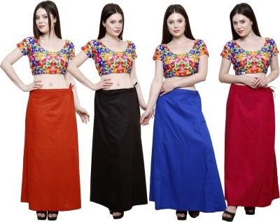 Pistaa Mango, Coca Cola, Ink Blue and Rani Pink Cotton Petticoat