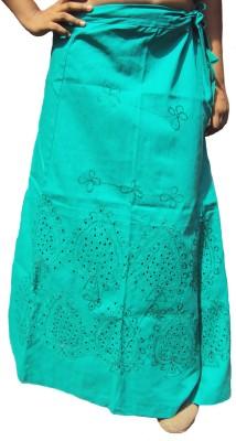 New Life Enterprise PRO600_M-Embroidered Sea Green Cotton Petticoat(Medium)