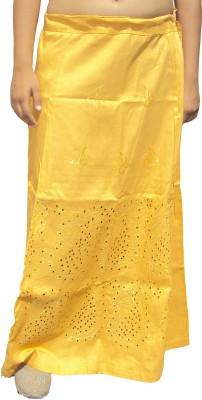 New Life Enterprise Hath0848-Gold Cotton Petticoat