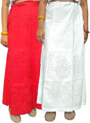 New Life Enterprise Hath0894-Red-White Coton Petticoat