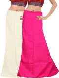 Javuli in-white-pink Cotton Petticoat (X...