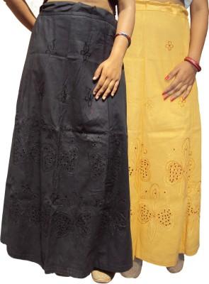 New Life Enterprise Hath0897-Black-Biscuit Cotton Petticoat