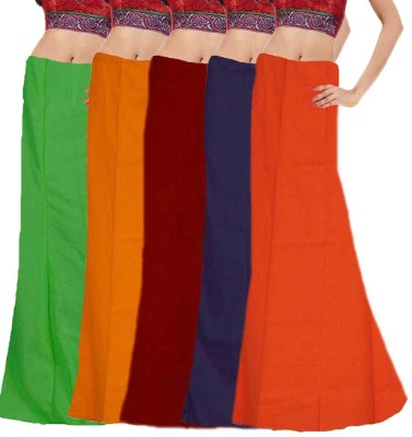Javuli ja1-in-com5-green-mango-maroon-navy-orange Cotton Petticoat