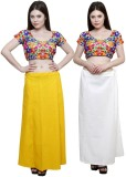 eFashionIndia White_Yellow Cotton Pettic...