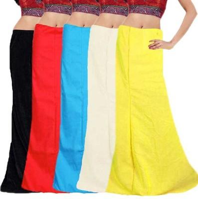 eFashionIndia Black_Orange_Blue_White_Yellow_Petticoat Cotton Petticoat