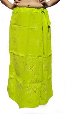 New Life Enterprise Hath0864-Green Cotton Petticoat