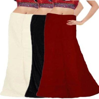 eFashionIndia White_Black_Maroon Cotton Petticoat