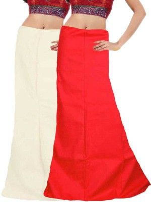 Javuli in-white-red Cotton Petticoat