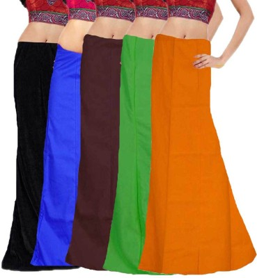 Javuli in-com5-black-blue-brown-green-mango Cotton Petticoat(XXL)