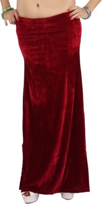 Carrel CARREL-PETTICOAT-105-DARK RED Velvet Petticoat(Medium)