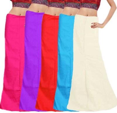 eFashionIndia Pink_Purple_Red_Blue_White_Petticoat Cotton Petticoat