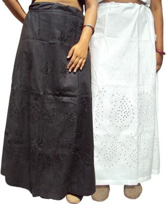 New Life Enterprise Hath0895-Black_white Cotton Petticoat