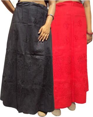 New Life Enterprise Hath0893-Black-Red Cotton Petticoat