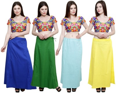 eFashionIndia Blue_Green_Skyblue_Yellow Cotton Petticoat