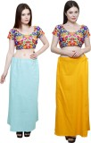 Pistaa Sky Blue and Mango Yellow Cotton ...