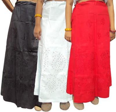 New Life Enterprise Hath0896-Black-Red-White Cotton Petticoat