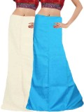 Javuli in-white-skyblue Cotton Petticoat...