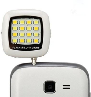 Cellpoint2011 16 Led Selfie Flash Light Phone Charm(White, Black)