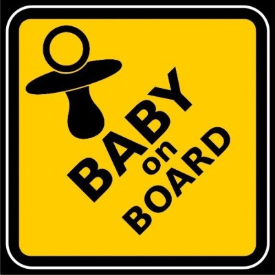 Funcart Baby On Board Photo Party Booth Board Photo Booth Board