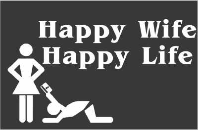 Funcart Happy Wife Happy Life Photo Booth Board