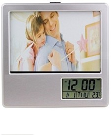 Connectwide Photo Frame With Digital Clock And Pen Holder 7 inch Digital(8 GB, Grey)