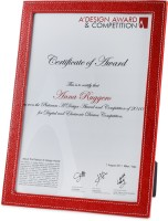 Eco-Leatherette A4CF 8x12 Inch  Photo Frame(Red)