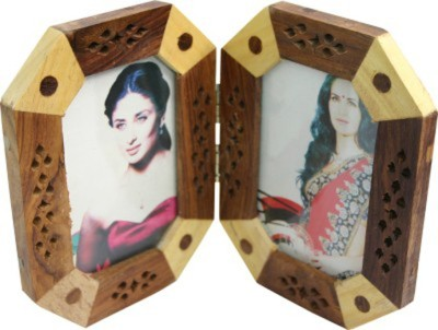 Craftatoz wooden carving photo frame 6 inch handcrafted