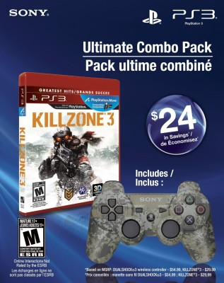 Ultimate Combo Pack Killzone 3 & Dualshock 3 wireless controller PS3 (Ultimate Edition)(Game and Expansion Pack for PS3)