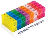 Presens 1 month Pill Box (Yellow, Red)