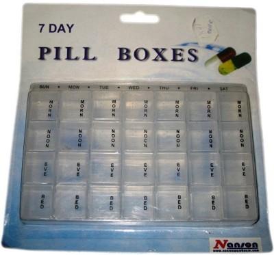 Nanson 7-day 1891 Pill Pill Box with Splitter