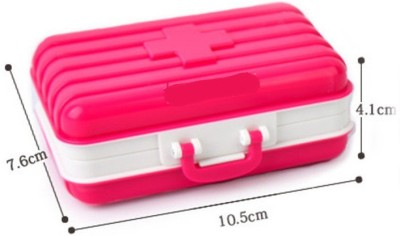 Shopo 7 day Travel Suitcase Shaped Jewelry Tablet Sorter Organizer Pill Medicine case(Pink)