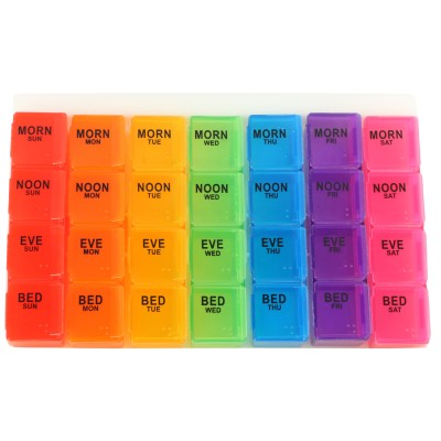 TG 1 week Pill Box with Detachable Containers(Multicolor)
