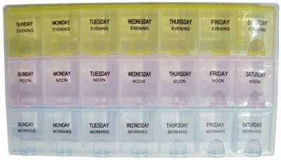 Raghav 7-Day Medicine Reminder Tray Pill Pill Box Tray