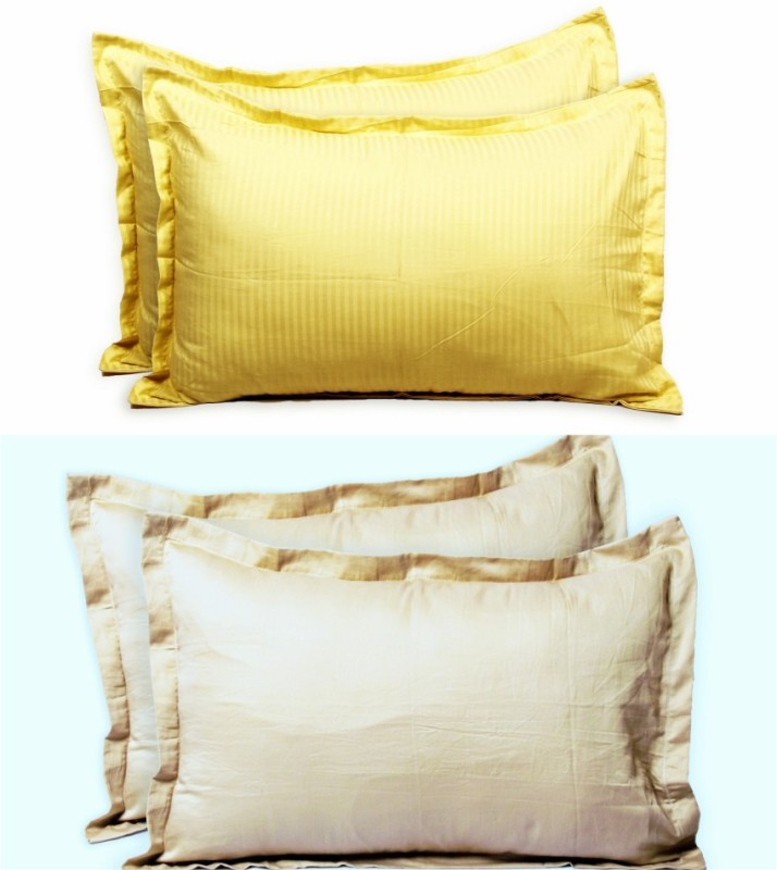 Always Plus Plain Cotton Filled Standard Size Pillow Protector(4)