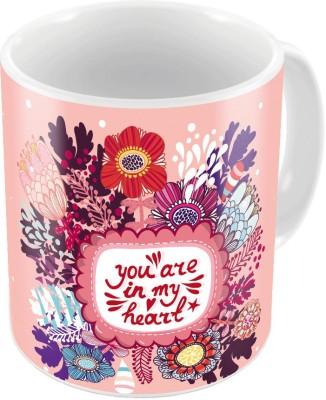 Little India Designer Romantic Print Coffee  Pair 450 Ceramic Mug