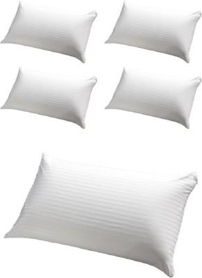 GoldGiftIdeas Stripe Bed/Sleeping Pillow(Pack of 5, White)