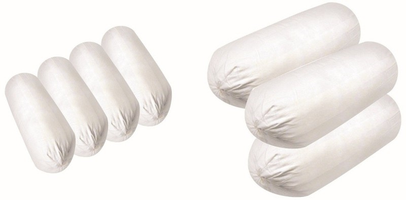 JDX Plain Bolster Pack of 7(White)