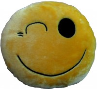 Tickles Solid Decorative Cushion(Pack of 1, Yellow)