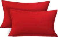 Clasiko Plain Pillows Cover(43 cm*69 cm, Red)