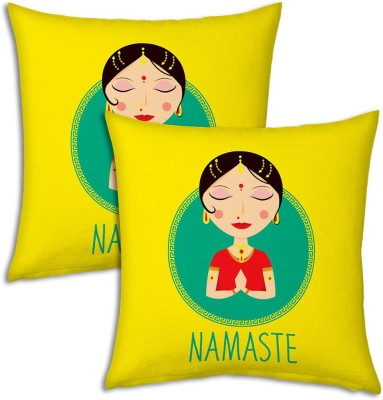 Little India Graphic Print Decorative Cushion