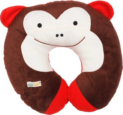 Ole Baby Printed Travel Pillow(Brown)