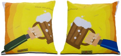 Beerosphere Clink the Pillows - Pair Decorative Cushion